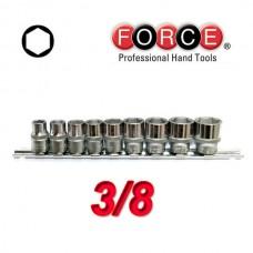 Σέτ καρυδάκια 3/8 Force (9 τεμ.)