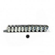 Σέτ καρυδάκια 3/8 πολύγωνα Force (11 τεμ.)