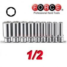 Σέτ καρυδάκια 1/2 Μακριά Force (9 τεμ.)